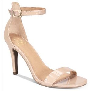 Material Girl Blaire 2 piece Sandal, Nude